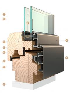 Dřevo-hliníková okna